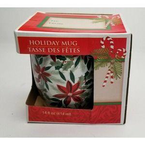 Royal Norfolk Poinsettia Christmas Ceramic Mug